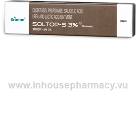 Soltop-S 3% Ointment (Clobetasol & Salicylic Acid) 30g/Pack